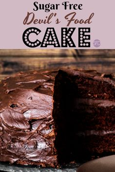 Sugar Free Devils Food Cake Such A Great Dessert Idea For Diabetic Or Lifestyle Celebration Birthday
