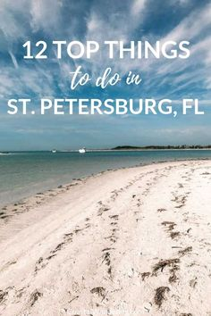 Beach Trip Discover 12 Awesome Things To Do In St. Petersburg Florida Here are 12 of the best things to do in St. Petersburg Florida including a beach guide historic sights and even restaurant recommendations. Florida Vacation Spots, Florida Travel, Florida Beaches, Travel Usa, Trip To Florida, Clearwater Beach Florida, St Petes Beach Florida, Stuff To Do, Things To Do