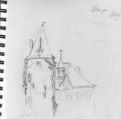 Das Schengener Schloss, der alte Turm ...
