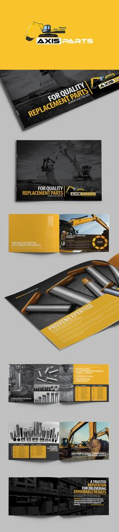 Axisparts brochure by Lemongraphic