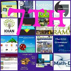 Free curricula in every subject for your 7th grader - A Magical Homeschool Middle School Ela, Middle School English, School Fun, School Days, School Stuff, High School, 7th Grade Ela, Seventh Grade, 7th Grade Science