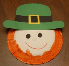 Paper Plate Leprechaun- 10 Cheap and Easy St. Patty's Day Crafts for Kids