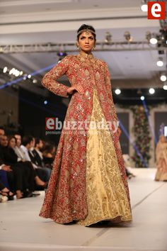 Maheen Taseer at PFDC Loreal Paris Bridal Week 2015 - Pakistani Fashion - Entertainment News by EbuzzToday Traditional Fabric, Lahenga, Pakistani Bridal, Loreal Paris, Bridal Collection, Desi, Brides, Entertainment, Saree