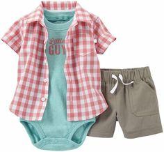 Carter's 3 Piece Woven Shorts Set (Baby)