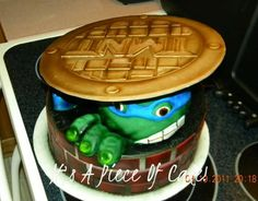 Teenage Mutant Ninja Turtle cake    Uploaded by Rebecca on Tuesday Nov 20 05:25:12 2012  Submitted into the December, 2012  Inkedibles Contest