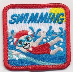 Girl Boy SWIMMING CLASS Swim lessons Fun Patches Crests Badges SCOUT GUIDE meet