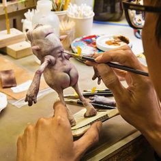 Laika puppeteers tirelessly hand-paint every character detail, even the cracks and crevices.
