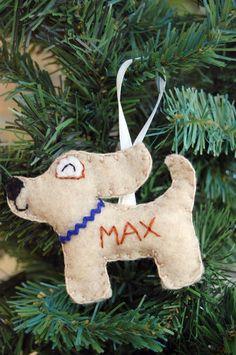 The Tumus Original Personalized Felt Dog Ornament  Made by Tumus, $16.50
