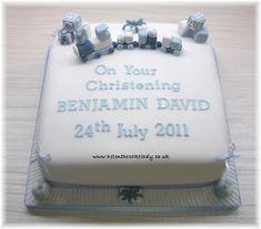 Christening cake Train