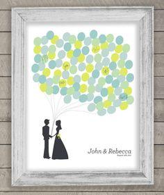 Moderne Interpretatin für Gästebuch für Hochzeit