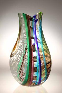 Murano Glass studio vase LODARIO 17