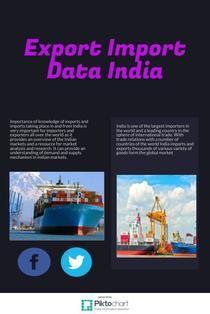 Export Import Data India | Piktochart Infographic Editor