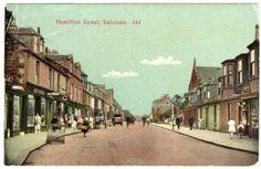 Hamilton Street prob 1920s West Coast Scotland, My Ancestors, Old Photos, Hamilton, 1920s, Britain, Nostalgia, Street View, Building