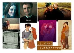 """""""Lily and James Potter"""" by emily-dickson-1 ❤ liked on Polyvore featuring art"""