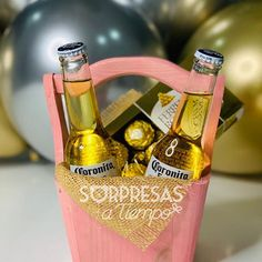 Gift Baskets For Men, Gift Bouquet, Beer Gifts, Beautiful Morning, Diy And Crafts, Valentines Day, Happy Birthday, Presents, Bottle