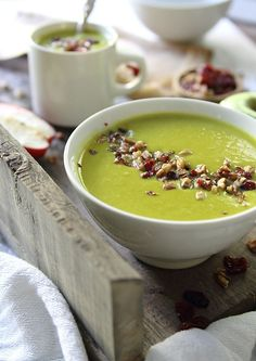 Cheddar apple leek soup /