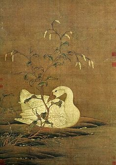 Painted by the Song Dynasty artist Zhao Ji 宋徽宗赵佶. View paintings, artworks and galleries at Chinese Art Museum. Learn about Chinese history and art at China Online Museum. Korean Painting, Japanese Painting, Japanese Art, Plant Painting, China Painting, Painting Gallery, Art Gallery, Art Asiatique, Art Japonais
