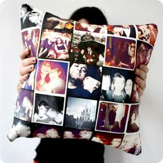 Create your own pillows with different photos! Cadeau Grand Parents, Craft Gifts, Diy Gifts, Handmade Gifts, Do It Yourself Baby, Diy And Crafts, Arts And Crafts, Little Presents, Creation Couture