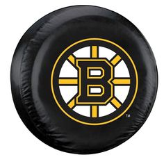 Boston Bruins Tire Cover Large Size Black Special Order