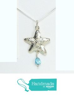 Starfish Necklace Silver with Make A Difference Story Card - Handcrafted Sterling Silver Made in USA from Lucina K. https://www.amazon.com/dp/B01B31D2FE/ref=hnd_sw_r_pi_dp_PpNMybWY9B72Y #handmadeatamazon
