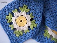 Blooming Granny square lapghan pattern / tutorial.