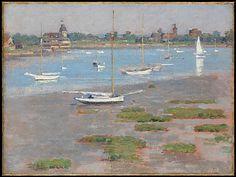 Theodore Robinson (American, 1852–1896). Low Tide, Riverside Yacht Club, 1894. The Metropolitan Museum of Art, New York. Gift of Margaret and Raymond J. Horowitz, 2007 (2007.281.3)