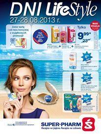 W dniach 26-28.08 odbędą się Dni LifeStyle w Super-Pharm. Z tej okazji przygotowaliśmy dodatkowe promocje. Obowiązują one we wszystkich drogeriach i są dedykowane klubowiczom LifeStyle Szczegóły promocji można znaleźć na stronie www.superpharm.pl. Zapraszamy :)