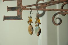 Lovely Earth Tone Natural Stone Topaz Color Glass by MemesShoppe, $30.00