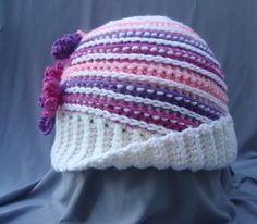 (4) Name: 'Crocheting :  'Crochet Women's Hat with Flower $2