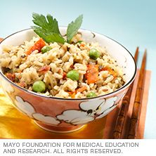 Seasoned rice mix - add your favorite vegetables to stretch this dish, fill you, bump up your nutrient intake.