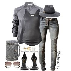 Gray Areas  DETAILS: Jacket #Brunellocucinelli Tank Top #Isabelmarant Hat #Bebe Jeans #Saintlaurent Earrings #Foreverbrilliant  Bag #Chanel  Frames #Dior #Styledbyfashionkill21