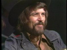 Waylon Jennings . Waymore Blues solo acoustic talking about this yesterday...he blushes...