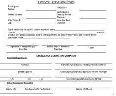 school permission slips templates