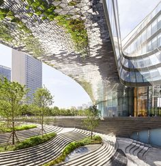 UNStudio design an All-in-One destination for living, working and leisure - Raffles City Hangzhou Metal Building Kits, Glass Building, Metal Building Homes, Green Architecture, Futuristic Architecture, Landscape Architecture, Architecture Design, Architecture Diagrams, Architecture Portfolio