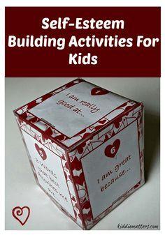 Self Esteem Building Activities For Kids