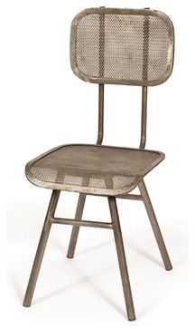Hoffa Industrial Chair - industrial - dining chairs and benches - Indeed Decor