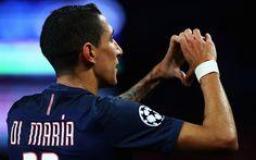 Indir duvar kağıdı 1 Angel Di Maria, Paris Saint-Germain, 4k, Arjantinli futbolcu, PSG, Fransa, İzle, futbol