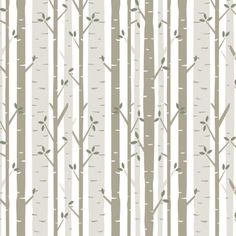 Birch Tree Fabric fabric by bartlett. For recovering the rocking chair?