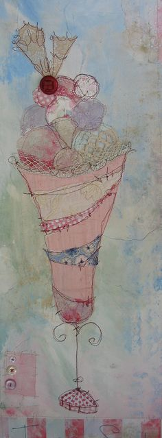 Icecream Sundae | Flickr  lovely fabric collage pieces