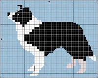 Border Collie Black and White Cross Stitch / Knitting Pattern Cross Stitch Borders, Cross Stitch Animals, Cross Stitch Designs, Cross Stitching, Cross Stitch Embroidery, Embroidery Patterns, Cross Stitch Patterns, Border Embroidery, Intarsia Knitting