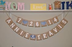 Couples Name  PLUS  Date Banner by JKreations2013 on Etsy, $32.50