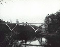 Kingsgate Bridge, Durham, County Durham, UK (circa 1964) Constructed as two spans, rotated into position above the River Wear. Designed by Ove Arup & Partners.