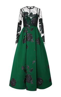Jacquard Maxi Dress by ELIE SAAB for Preorder on Moda Operandi