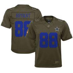 095e4e7f32e Dez Bryant Dallas Cowboys Nike Youth Salute to Service Game Jersey - Olive