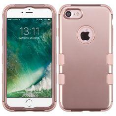 MYBAT TUFF Hybrid iPhone 7 Case - Rose Gold/Rose Gold