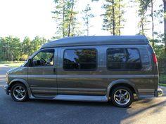 Chevrolet : Express Hi-Top Conversion Van Chevrolet Van, Chevy Van, Chevy Camaro, Gmc Vans, Chevy Express, Conversion Van, Cool Vans, High Top Vans, Custom Vans