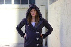 How-To: Make a Fitted Asymmetrical Hoodie from a Larger Sweatshirt