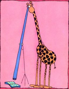 There's ALWAYS a way! Guillermo Mordillo Cartoon Giraffe, Argentine, Humor Grafico, Illustrations, Funny Cartoons, My Animal, Art For Kids, Cool Art, Photos