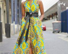 NOUVEAU - Robe maxi Maria en jaune par GITAS portail