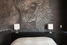 Exclusieve slaapkamer muurschildering